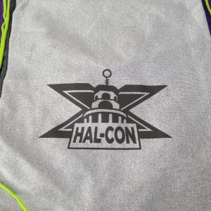 Hal-Con X grey bag