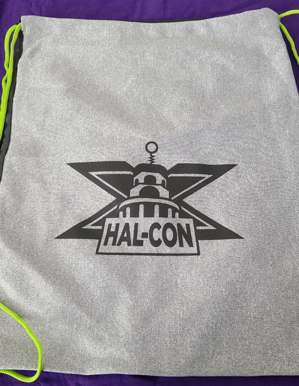 Hal-Con X grey bag