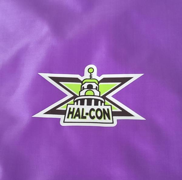 Hal-Con X purple bag