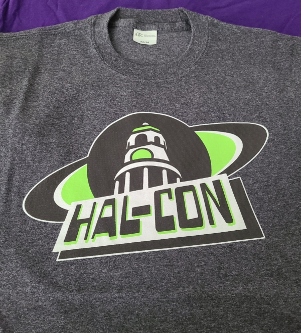 Hal-Con tee old logo